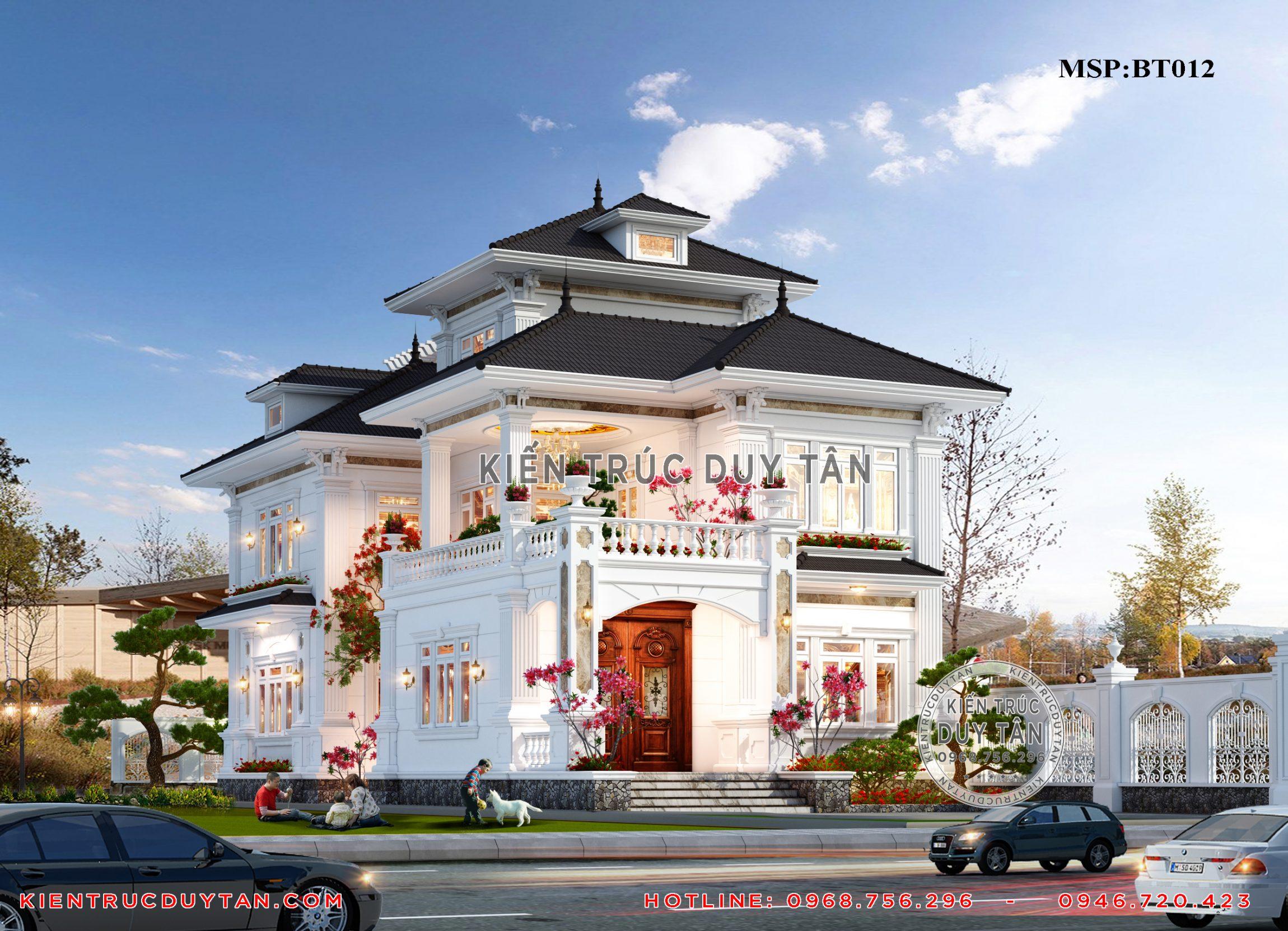 Công ty thiết kiến trúc Duy Tân báo giá xây biệt thự 3 tầng 2020