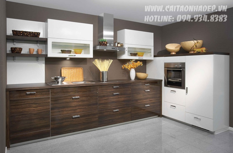 Thiết kế tủ bếp và phòng ăn đẹp