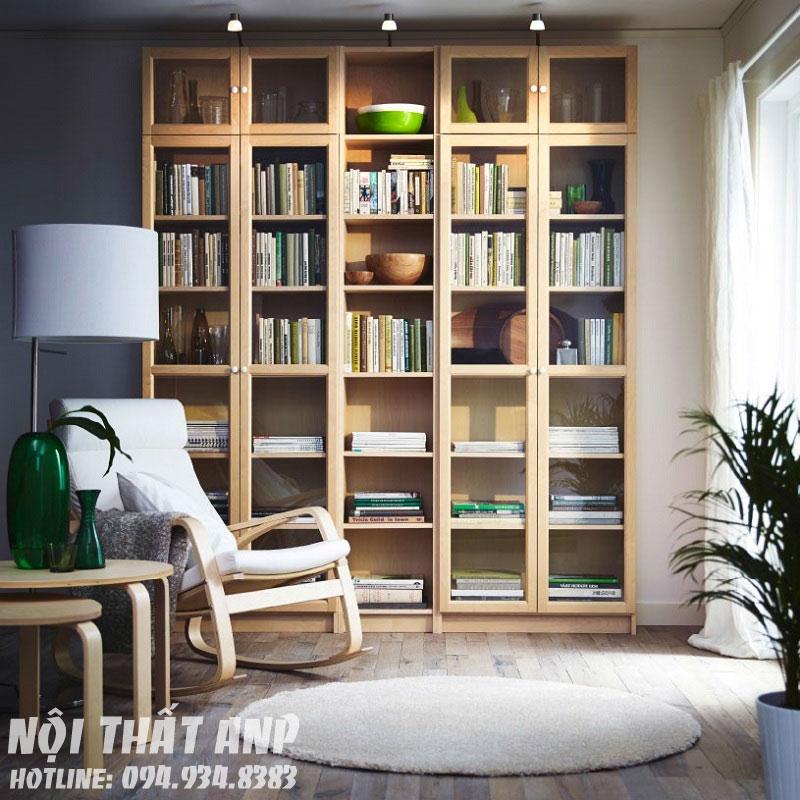 Tủ sách có cửa kính ANP-189