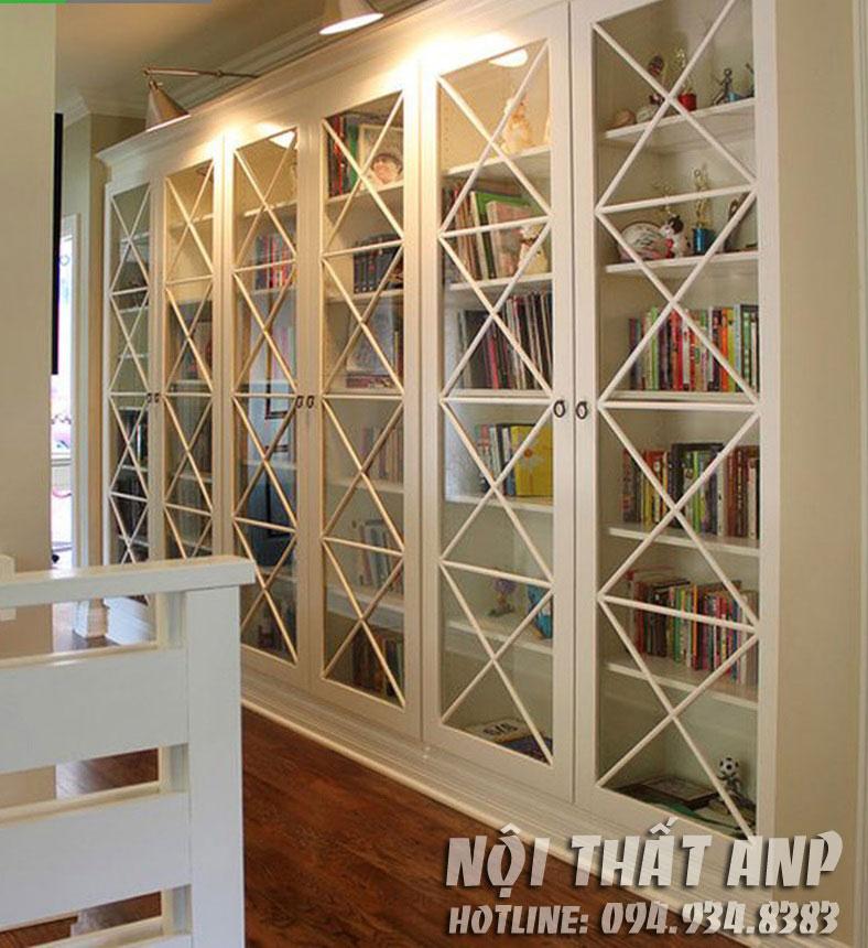 Tủ sách có cửa kính