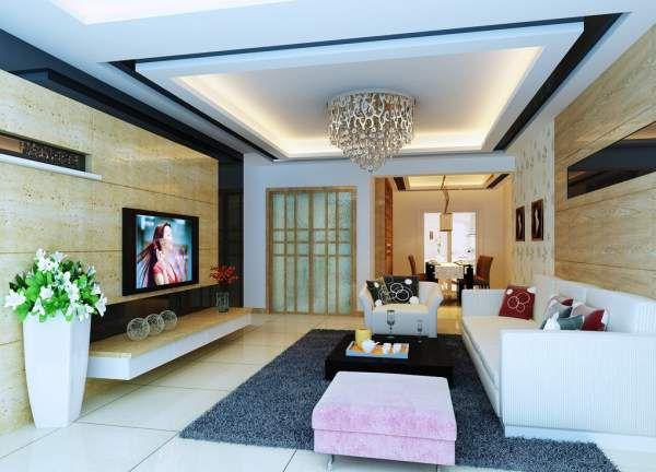 Top 4 mẫu trần thạch cao phòng khách đẹp nhất 2018